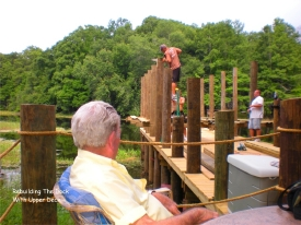 Building the uppler level of the Riverside RV Park dock. Now you can fish from up high - see more and catch more fish!