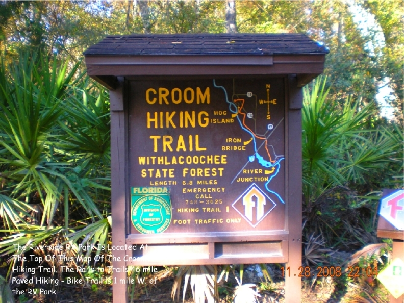 Rails To Trails Florida Map.Croom Hiking Trail Map Withlacoochee State Forest
